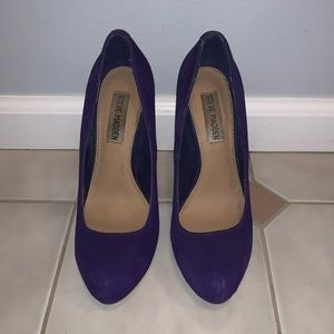 Steve Madden Purple Suede Pumps- Size 6